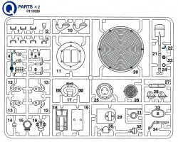 Q Parts (Q1-Q34) for Tamiya Leopard 2A6 (56020) 1:16