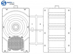 S Parts (S1-S2) for Tamiya Leopard 2A6 (56020) 1:16
