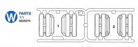 W Teile (W1-W2) für Tamiya Leopard 2A6 (56020) 1:16
