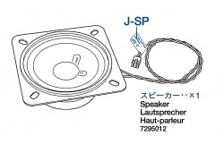 Speaker for Tamiya Leopard 2A6 (56020) 1:16