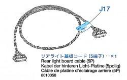 Rear Light Board (5P) for Tamiya Leopard 2A6 (56020) 1:16