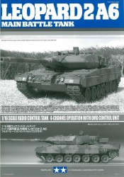 Instructions for Tamiya Leopard 2A6 (56020) 1:16