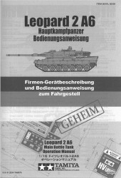 Operation Manual for Tamiya Leopard 2A6 (56020) 1:16