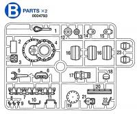 B Teile (B1-B23) für Tamiya Panzer IV Ausf. J (56026) 1:16