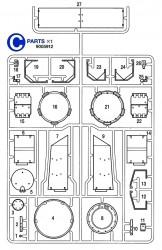 C Teile (C1-C27) für Tamiya Panzer IV Ausf. J (56026) 1:16