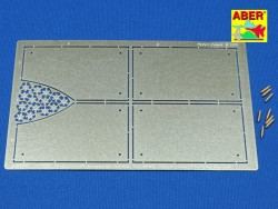 Photo Etched Armour for grilles - King Tiger 1:16 (ABER)