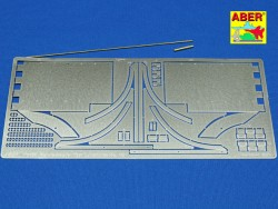 Photo Etched Front Fenders for King Tiger 1:16 (ABER)