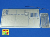 Photo Etched Rear Fenders for King Tiger 1:16 (ABER)