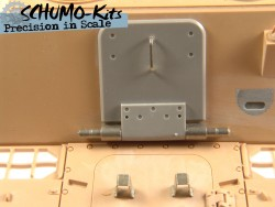 Rear exit hatch for Tamiya Jagdpanther in 1/16 scale
