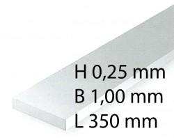 Plastic-Stripes - 0,28 x 1,0 x 350 mm (10 Pcs.)