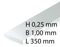 Plastik-Streifen - 0,28 x 1,00 x 350 mm (10 Stück)