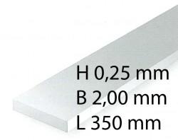 Plastik-Streifen - 0,28 x 2,00 x 350 mm (10 Stück)