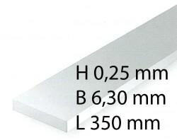 Plastik-Streifen - 0,28 x 6,30 x 350 mm (10 Stück)