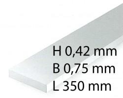 Plastik-Streifen - 0,42 x 0,75 x 350 mm (10 Stück)