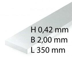 Plastik-Streifen - 0,42 x 2,00 x 350 mm (10 Stück)