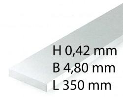 Plastik-Streifen - 0,42 x 4,80 x 350 mm (10 Stück)