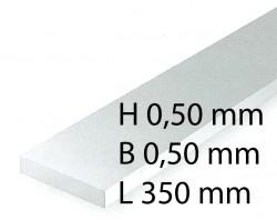 Plastik-Streifen - 0,50 x 0,50 x 350 mm (10 Stück)