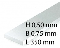 Plastik-Streifen - 0,50 x 0,75 x 350 mm (10 Stück)