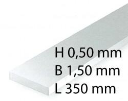 Plastik-Streifen - 0,50 x 1,50 x 350 mm (10 Stück)