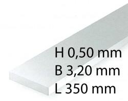 Plastik-Streifen - 0,50 x 3,20 x 350 mm (10 Stück)