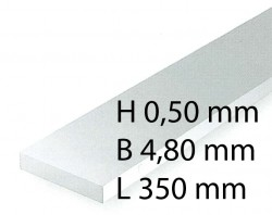 Plastik-Streifen - 0,50 x 4,80 x 350 mm (10 Stück)