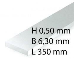 Plastik-Streifen - 0,50 x 6,30 x 350 mm (10 Stück)