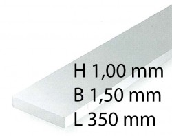 Plastik-Streifen - 1,00 x 1,50 x 350 mm (10 Stück)