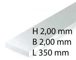 Plastik-Streifen - 2,00 x 2,00 x 350 mm (9 Stück)