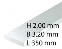 Plastik-Streifen - 2,00 x 3,20 x 350 mm (8 Stück)