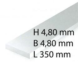 Plastik-Streifen - 4,80 x 4,80 x 350 mm (4 Stück)