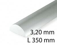 Halbrund - 3,20 x 350 mm (3 Stück)