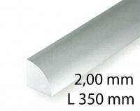 Viertelrund - 2,00 x 350 mm (3 Stück)