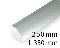 Quarter round - 2,50 x 350 mm (3 Pcs.)