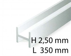 H-Profil - 2,50 x 350 mm (4 Stück)