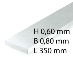 H0 Scale Strips - 0,60 x 0,80 x 350 mm (10 Pcs.)