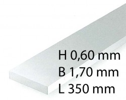 H0 Scale Strips - 0,60 x 1,70 x 350 mm (10 Pcs.)