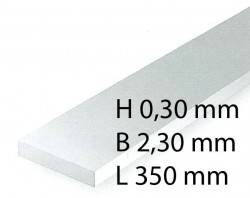 H0 Scale Strips - 0,30 x 2,30 x 350 mm (10 Pcs.)
