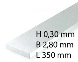 H0 Scale Strips - 0,30 x 2,80 x 350 mm (10 Pcs.)