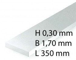 H0 Scale Strips - 0,30 x 1,70 x 350 mm (10 Pcs.)