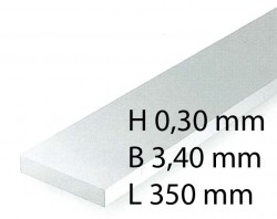 H0 Scale Strips - 0,30 x 3,40 x 350 mm (10 Pcs.)