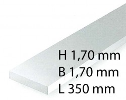 H0 Scale Strips - 1,70 x 1,70 x 350 mm (10 Pcs.)