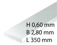 H0 Scale Strips - 0,60 x 2,80 x 350 mm (10 Pcs.)