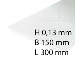 Clear Sheets - 0,13 x 150 x 300 mm (3 Pcs.)