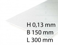 White Sheets - 0,13 x 150 x 300 mm (3 Pcs.)