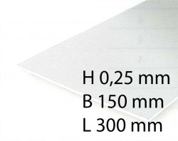 White Sheets - 0,25 x 150 x 300 mm (4 Pcs.)