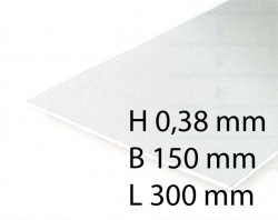 White Sheets - 0,38 x 150 x 300 mm (3 Pcs.)