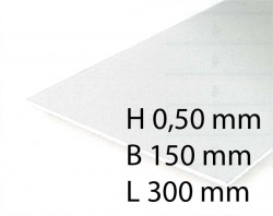 White Sheets - 0,50 x 150 x 300 mm (3 Pcs.)