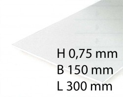 White Sheets - 0,75 x 150 x 300 mm (2 Pcs.)