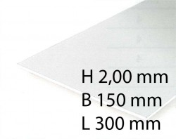 White Sheets - 2,00 x 150 x 300 mm (1 Pcs.)
