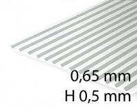 Verkleidungsplatte V-Rille 0,65 mm / H 0,5 mm